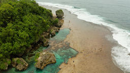 Magpupungko natural rock pools. Philippines,Siargao Footage