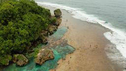 Magpupungko natural rock pools. Philippines,Siargao Stock Video Footage