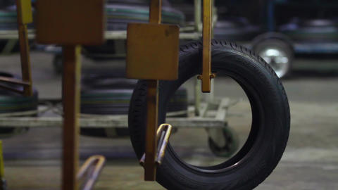 Manufacture of automobile tyres Footage