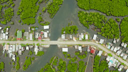 Aerial view of town is in mangroves. Siargao,Philippines Footage