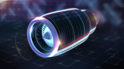 Sci fi Concept of Visualization Process Test of Aircraft Engine Aerodynamics Footage