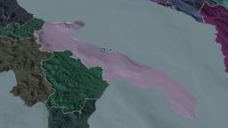 Apulia - region of Italy. Administrative Animation