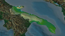 Apulia - region of Italy. Physical Animation