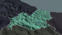 Molise - region of Italy. Administrative Animation