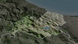 Molise - region of Italy. Satellite Animation