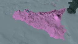Sicily - autonomous region of Italy. Administrative Animation