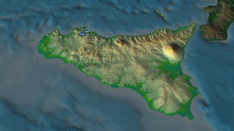 Sicily - autonomous region of Italy. Physical Animation
