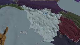 Toscana - region of Italy. Administrative Animation