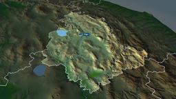 Umbria - region of Italy. Physical Animation