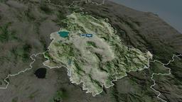 Umbria - region of Italy. Satellite Animation