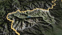 Valle Daosta - autonomous region of Italy. Satellite Animation