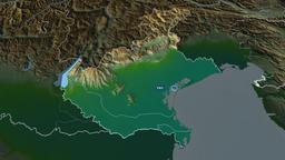 Veneto - region of Italy. Physical Animation