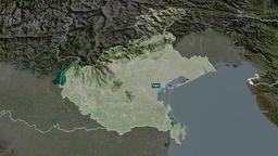 Veneto - region of Italy. Satellite Animation