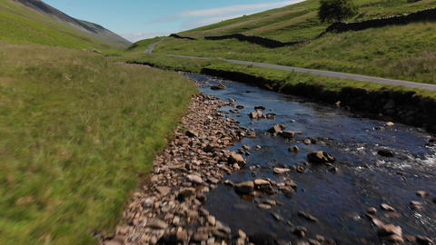 Stream in the UK countryside - Barbon Beck 2 (V388) Live Action