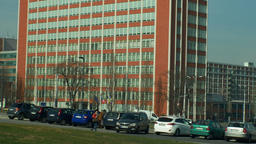 OLOMOUC, CZECH REPUBLIC, FEBRUARY 29, 2019: Zlin Bata administrative skyscraper Footage