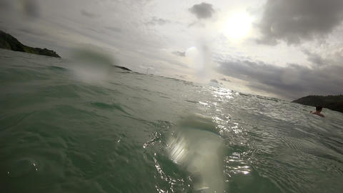 Waves on the beach of Nai Harn, Thailand Footage