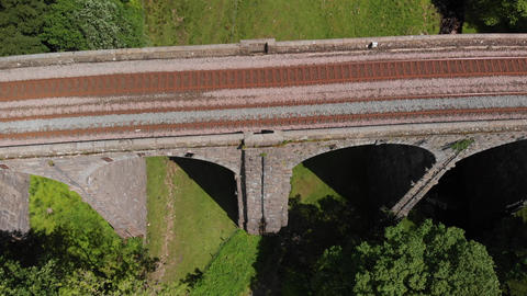 Shot looking down at the Dent Head railway tracks (V397) Live Action