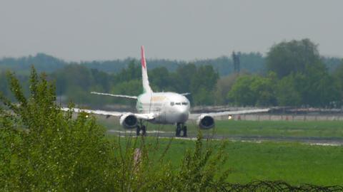 Somon Air Boeing 737 departure Footage