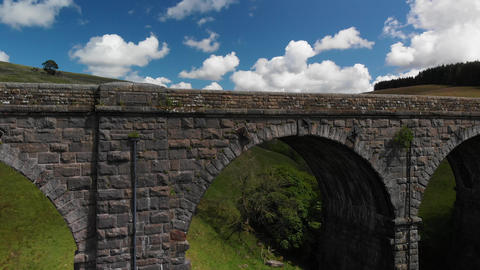 Rising view through the archway at Dent Head Viaduct (V403) Live Action