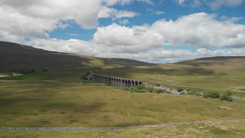 Static shot of the Ribblehead Viaduct (V407) Footage