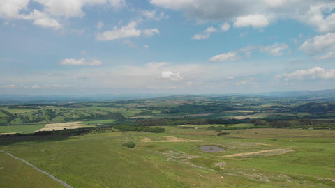 Static aerial shot on Caton Moor Lancaster (V412) Live Action