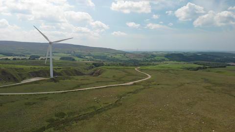 A single Wind Turbine on Caton Moor (V436) Footage