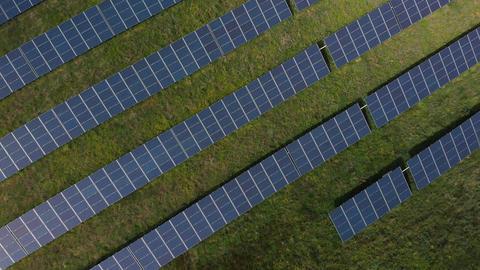 Flying over solar panels (V447) Live Action