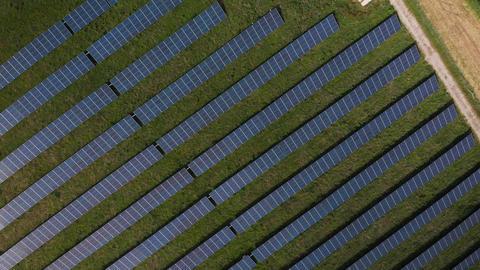 Ascending over solar panels (V448) Live Action