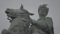 Monument to Hetman Bogdan Khmelnitsky in Kiev (Kyiv). Ukraine .Close-up Footage