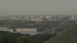 Kiev (Kyiv) in the summer. Left Bank of the city. Ukraine Footage