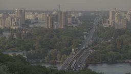The bridge across the Dnieper river . Kiev (Kyiv). Ukraine Footage