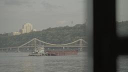View of the Dnieper river. Kiev (Kyiv). Ukraine Footage
