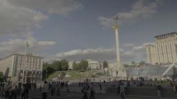 The center of Kiev (Kyiv) . Ukraine. The Independence Square Footage