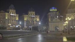 Kiev (Kyiv) night. Ukraine. The Independence Square. City center Footage