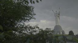 Kiev (Kyiv) . Symbol of Ukraine : Monument to Motherland Footage