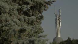 """Kiev (Kyiv) . Ukraine. The monument """"Motherland"""" Footage"""