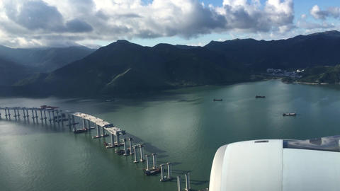 LANDING IN HONG KONG 4k video # Footage