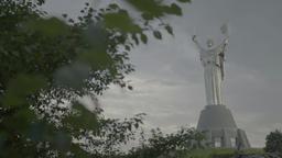 "The Symbol Of Kiev (Kyiv). The monument ""Motherland"" . Ukraine Footage"