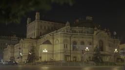 Kiev (Kyiv). Ukraine. National Opera of Ukraine at night Footage