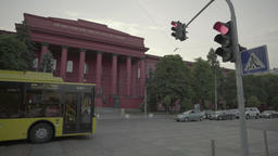 City views of Kiev (Kyiv) . The Building Of The Kiev National University Footage