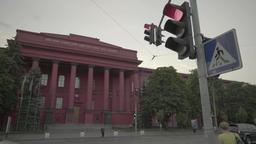 The building of the National University. Kiev. Ukraine Stock Video Footage