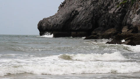 waves and sand Footage