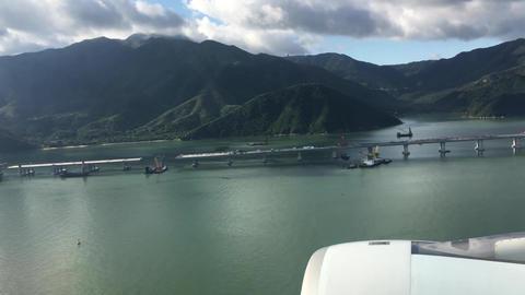LANDING IN HONG KONG TIME-LASPE 4K Video # Footage