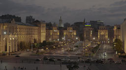 Kiev (Kyiv) , Ukraine. The Independence Square.The center of the city. Timelapse Footage