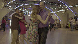 Couples dancing tango (milonga) dance hall Footage