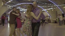 Couples dancing tango (milonga) dance hall Footage
