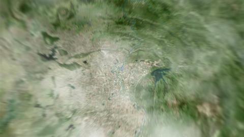 4K Earth Zoom: Vientiane – Lao Animation