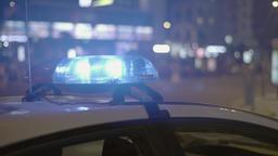 Flashing police lights (close up) ビデオ
