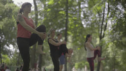 Yoga in the park in the afternoon Stock Video Footage
