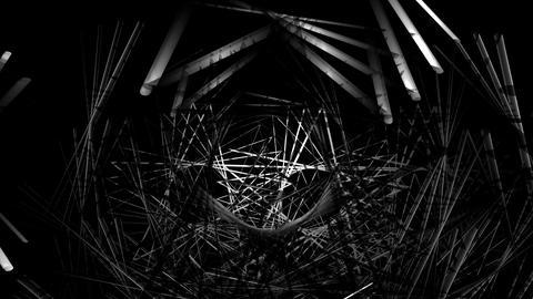 Sinister Dark VJ Loop Of Metallic Like Spikes Moving Endlessly Animation